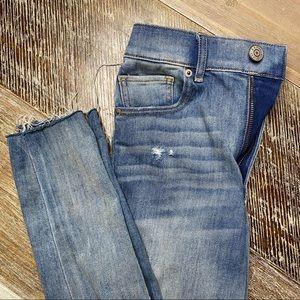 Express super high rise cropped jean leggings 2